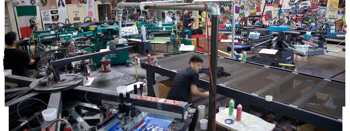 workhorse screen printing machine
