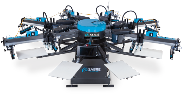 Sabre automatic screen printing press